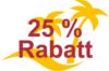 bis zu 25% Rabatt