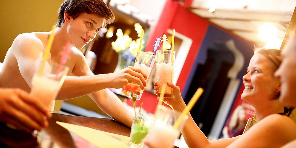 Leckere Cocktails während einer Saunaveranstaltung